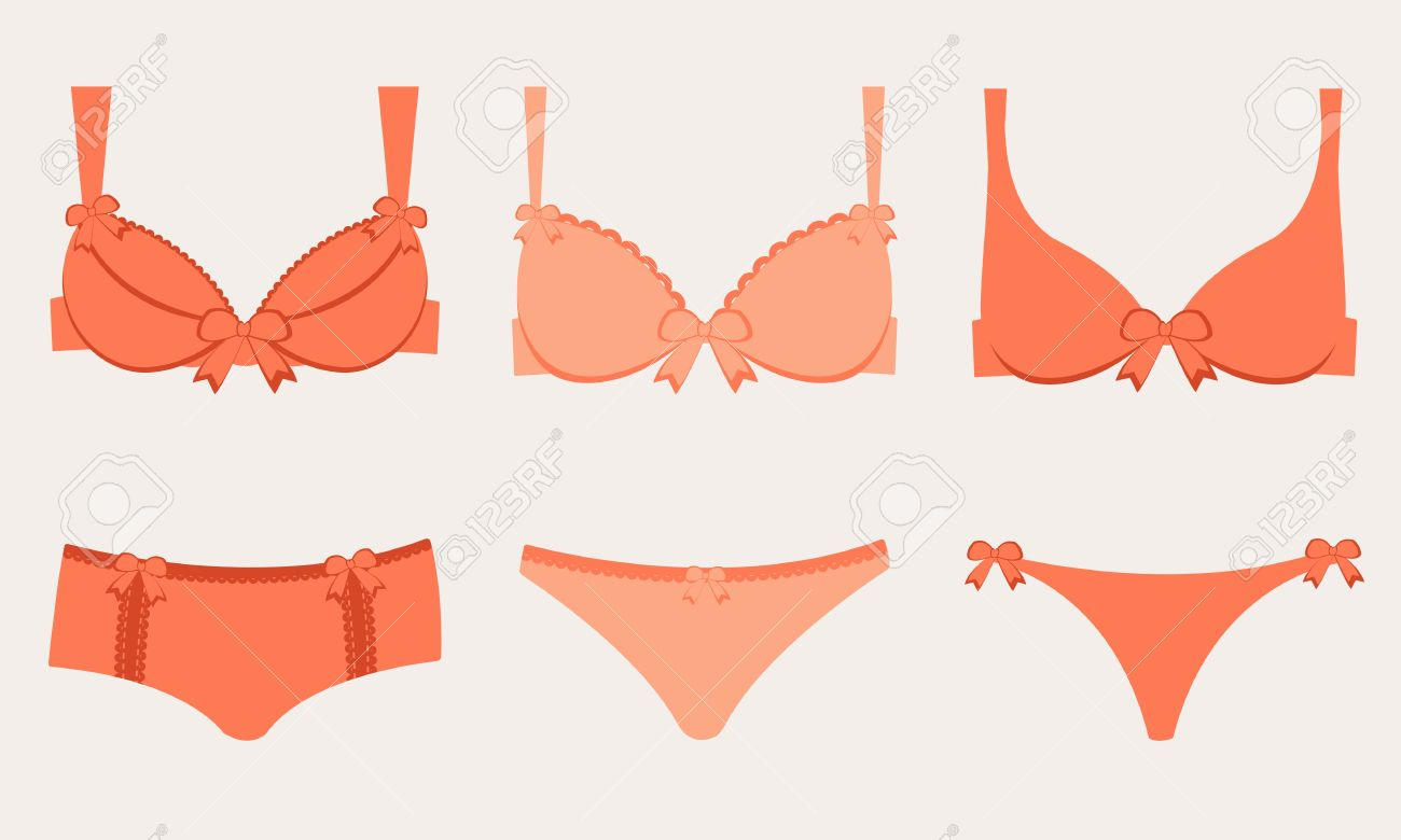Bra and underwear clipart.