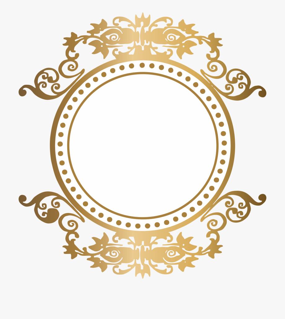 Brasão Dourado Com Fundo Transparente, Cliparts & Cartoons.