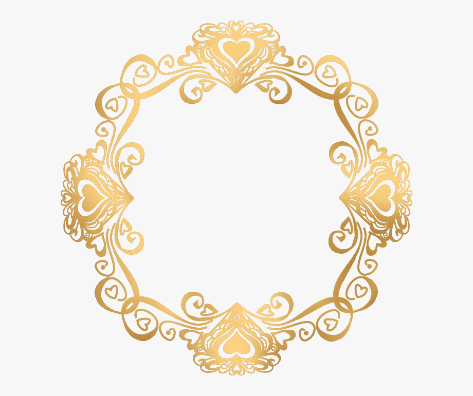 Round Gold Frame Png.