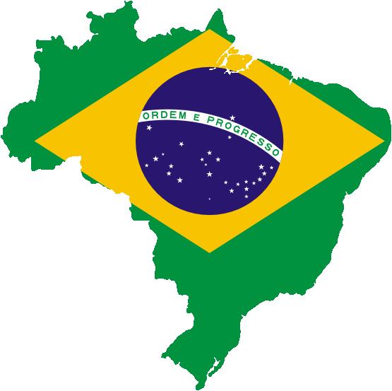 Clipart map of brazil.