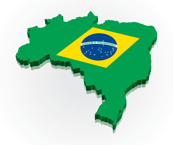 Clipart map of brazil.