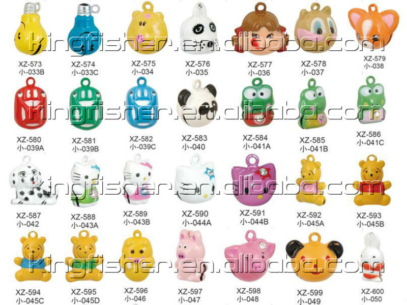 Brass Alloy Cute Design Animal Cartoon Bells,Christmas Charm Bells.