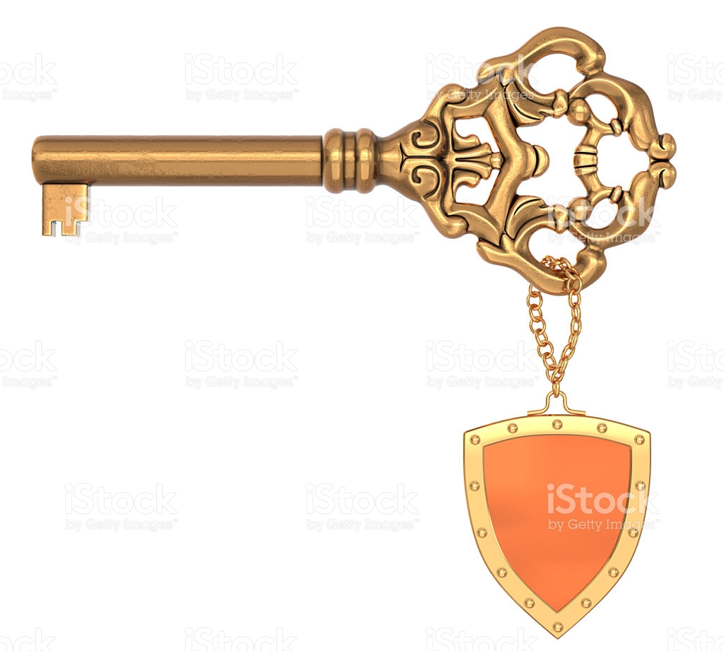 Vintage Ornate Brass Key stock photo 534103801.