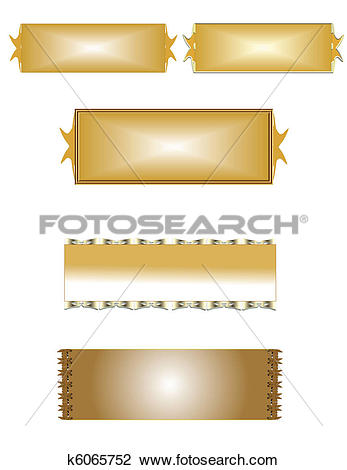 Clipart of brass name plates on white k6065752.