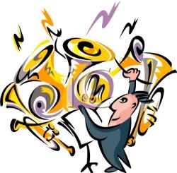 Concert Band Instruments Clipart.