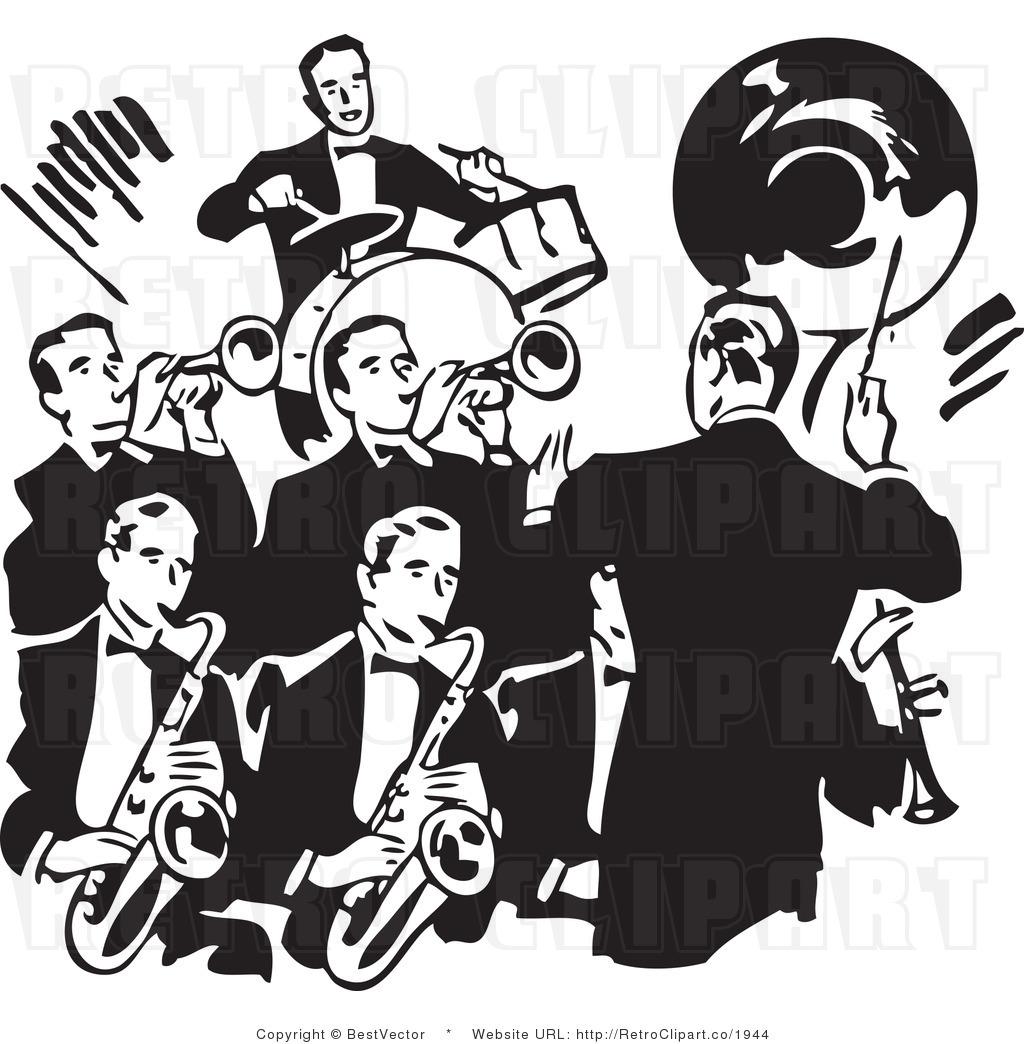 Clipart brass band.