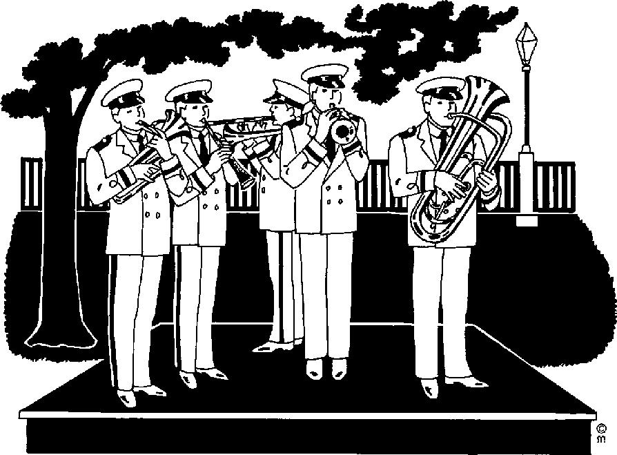 Brass band clipart.