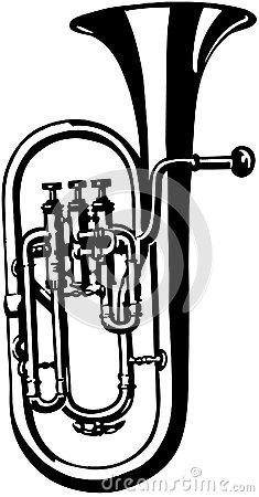 Brass Horn Trombone Vector Clipart Stock Vector.