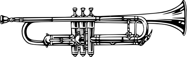 Music instruments clipart black and white.