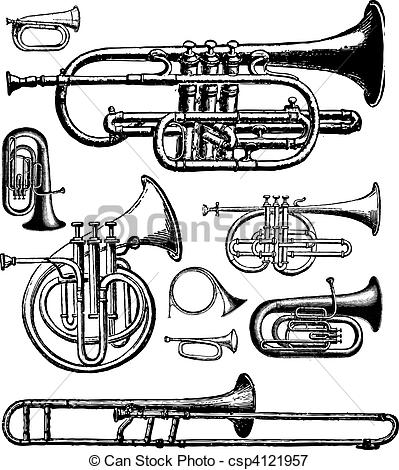 Brass instrument Vector Clip Art Royalty Free. 2,336 Brass.