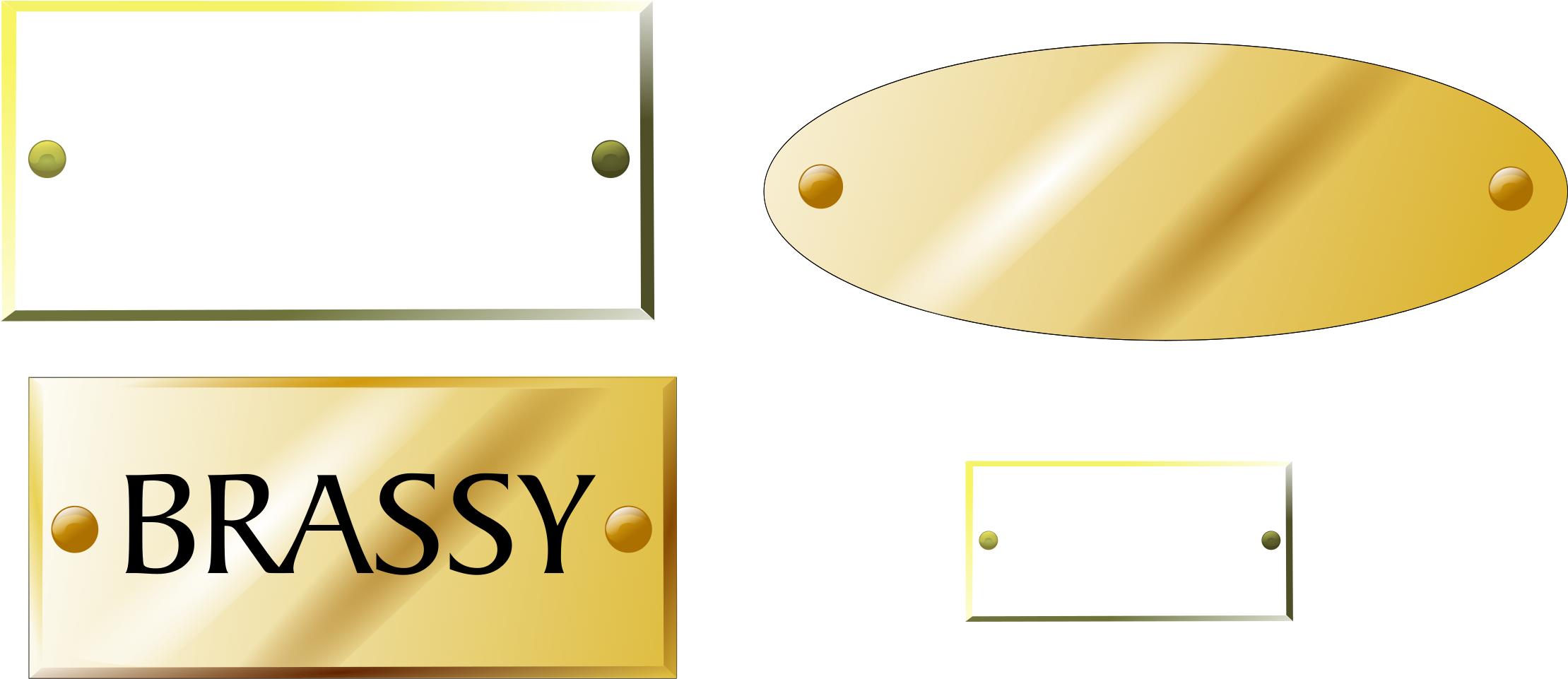 HD Clipart Brass Plaques Tags Big Image Png.