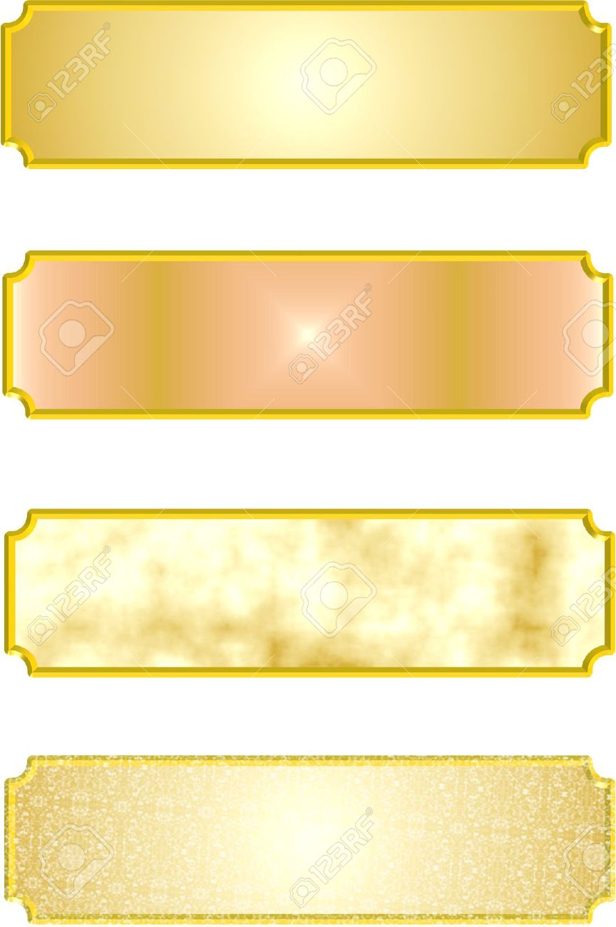 Metal Nameplates In 3d Royalty Free Cliparts, Vectors, And Stock.