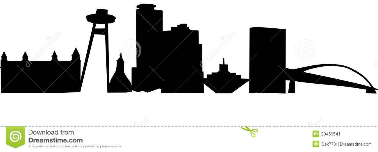 Bratislava Skyline Stock Illustrations.