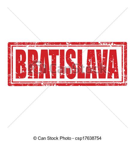 Clipart Vector of Bratislava.