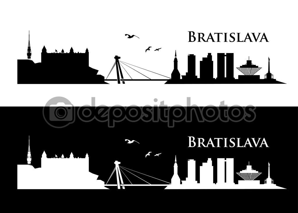 Bratislava skyline — Stock Vector © I.Petrovic #47955175.