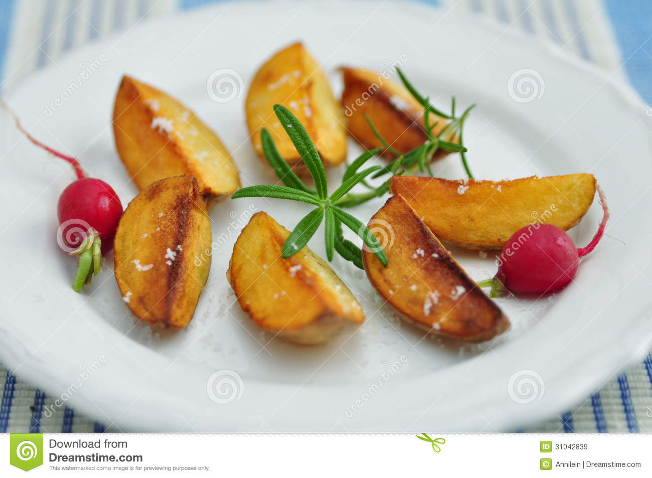 Bratkartoffeln, German Roast Potatoes Royalty Free Stock Images.