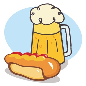 Beer and brats clipart.