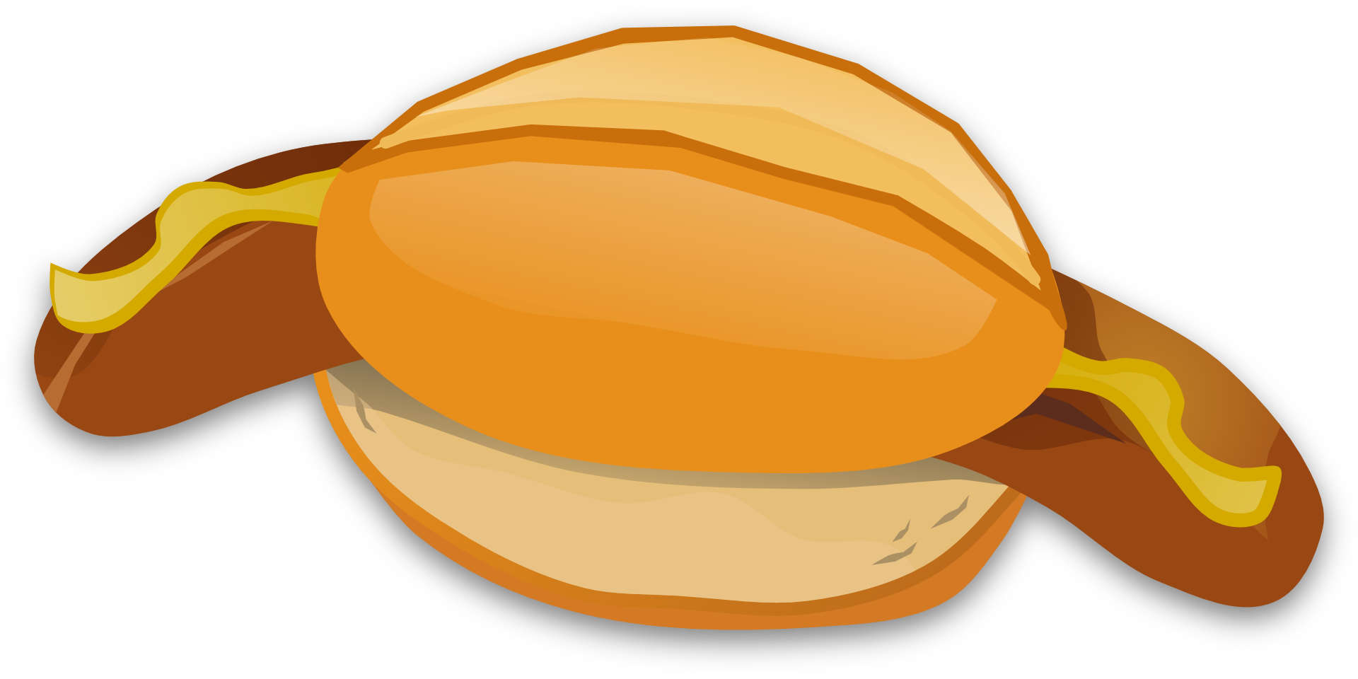 Clipart of the bratwurst free image.