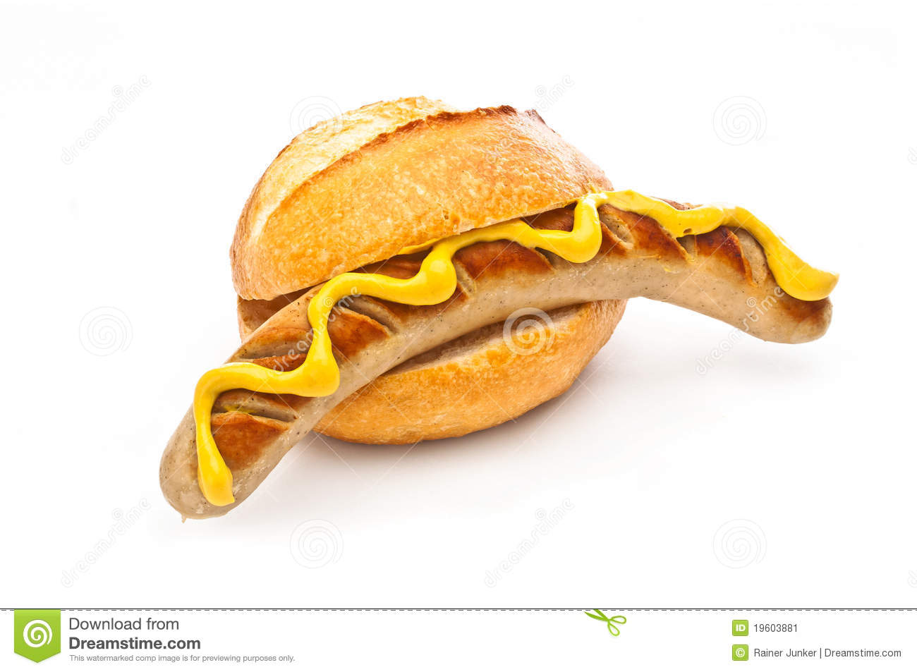German Bratwurst Stock Photo.