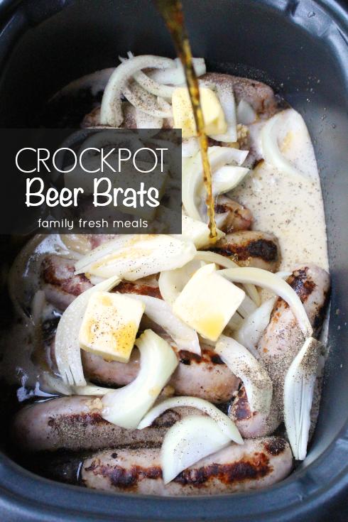 Best Crockpot Beer Brats.