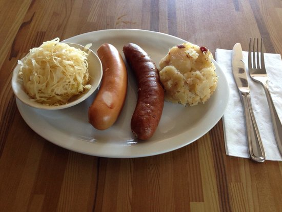 Bratwurst and Hot German Potato Salad.
