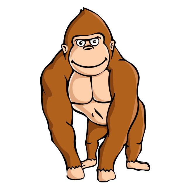 Clip art gorilla.