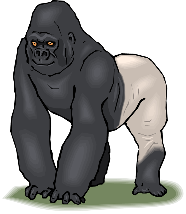 Clip Art. Gorilla Clip Art. Stonetire Free Clip Art Images.