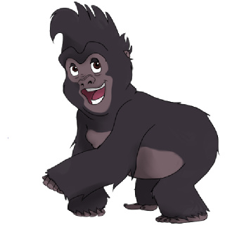 Clipart of a gorilla.