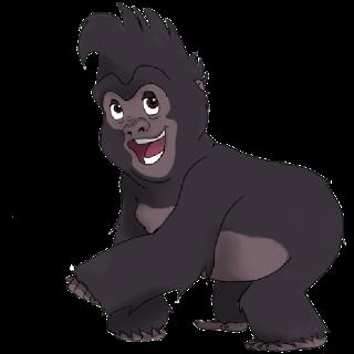 Clipart of a gorilla.