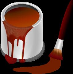 Color Bucket Brown clip arts, free clipart.