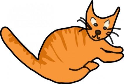 Braun Katze.