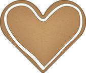 Drawings of Heart cookie k0739724.
