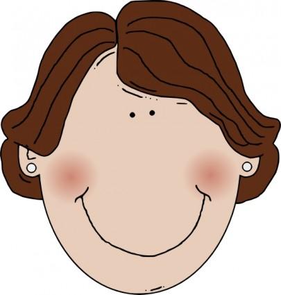 Middle Aged Woman Braun Haar ClipArt.