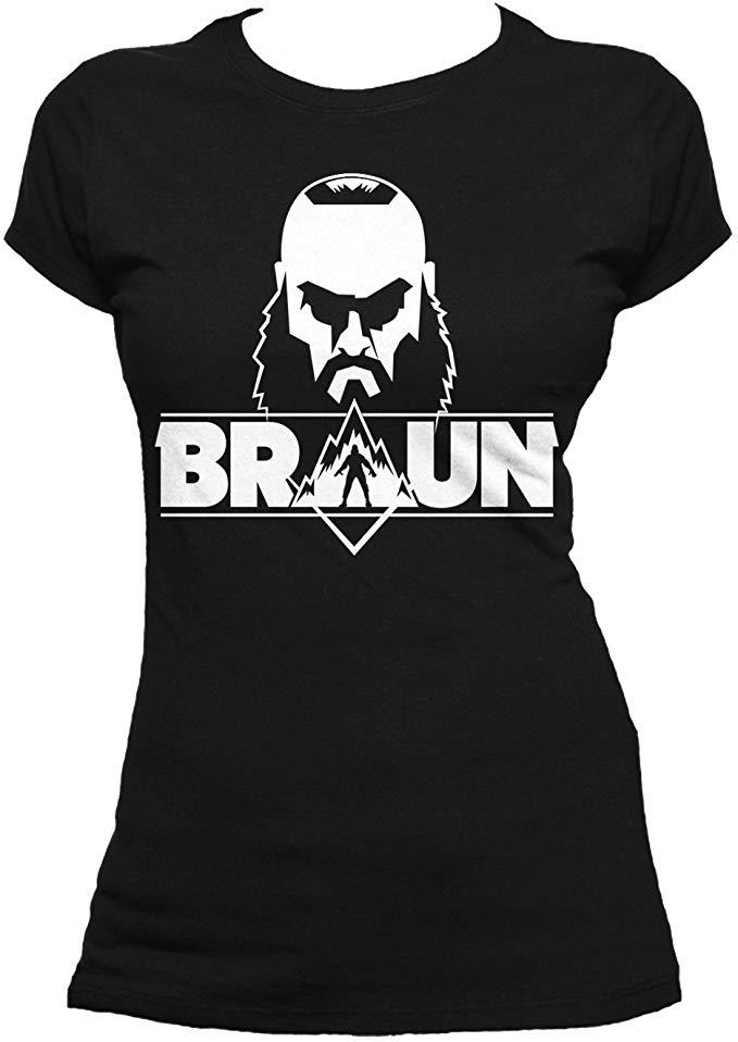 WWE Women\'s Braun Strowman Logo Head T.