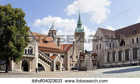 "Stock Photo of ""Dankwarderode Castle and Cathedral of St. Blaise."
