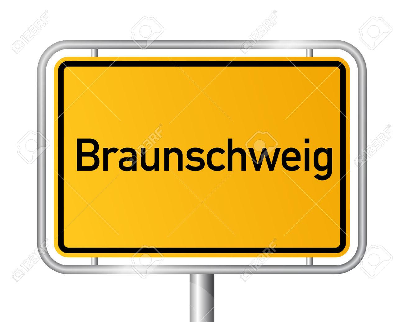 City Limit Sign Braunschweig.