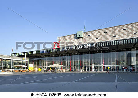 Stock Image of Central station Braunschweig, Lower Saxony, Germany.