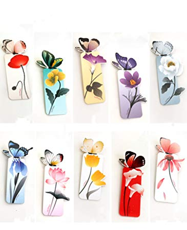 Braveness 20 pcs Butterfly Bookmark Decoration.