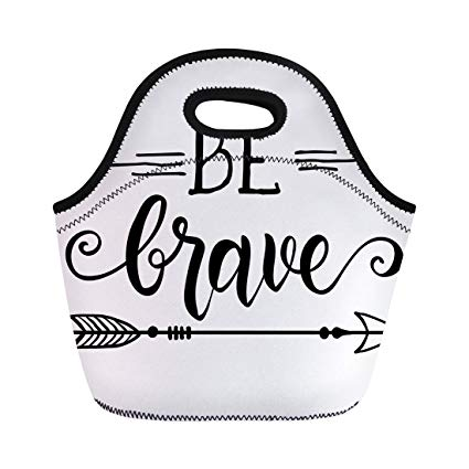 Amazon.com: Semtomn Lunch Tote Bag Be Brave Quote About.