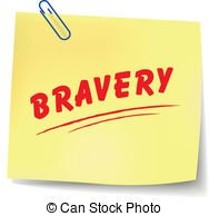 Clip Art Vector of Bravery sign.