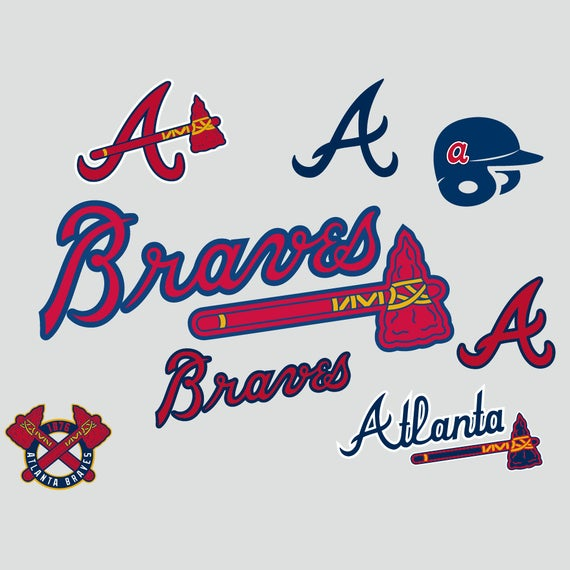 Atlanta Braves Cut Files, SVG Files, Baseball Clipart, Cricut contains dxf,  eps, svg, jpg, png and pdf files. Instant Download.
