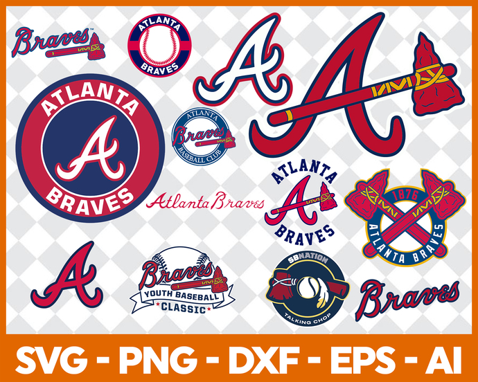 Atlanta Braves Cut Files, SVG Files, Baseball Clipart, Cricut Atlanta  Braves Cutting Files, Baseball DXF, Clipart, Instant Download.