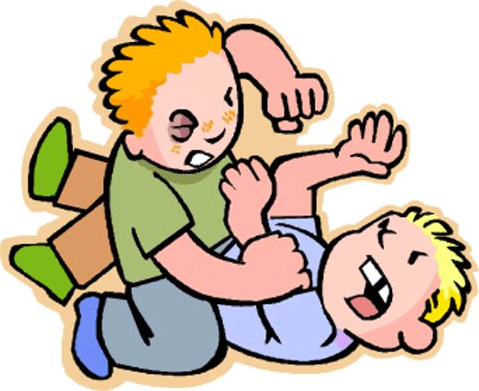 Kids walking away from fight clipart.