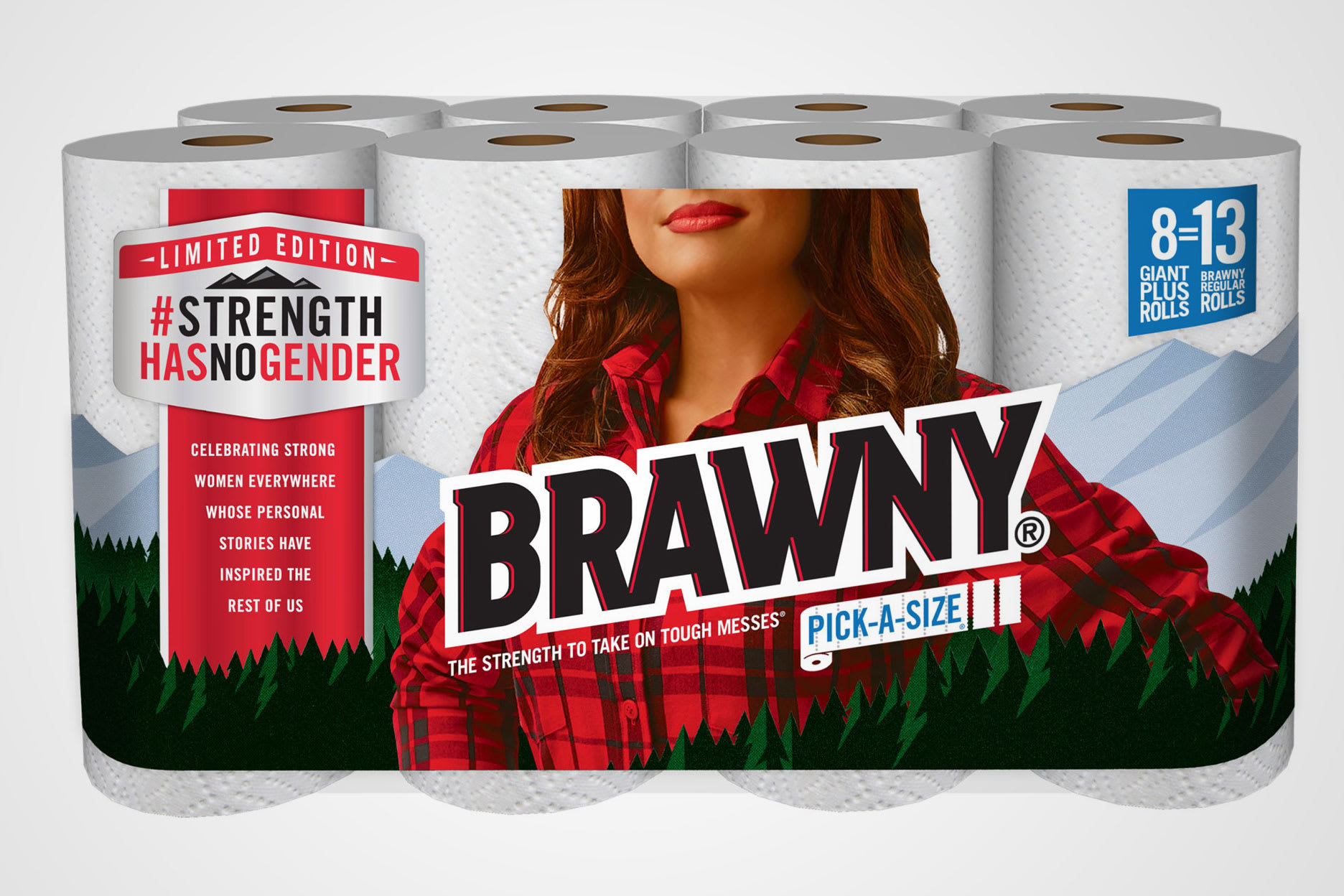The Brawny Woman? Paper towel brand replaces iconic logo for.