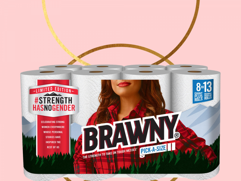 The Iconic Brawny Man Logo Is Now The Brawny Woman.