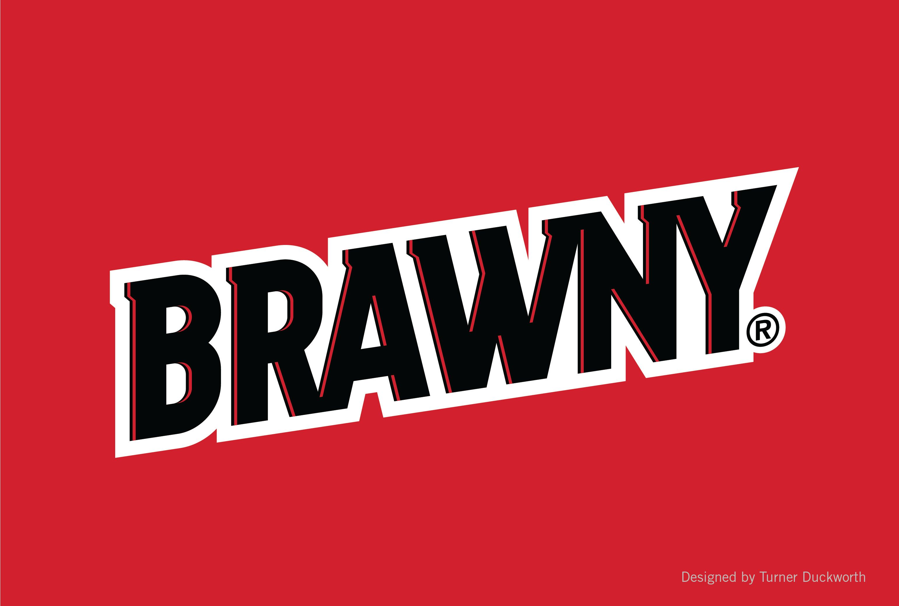 Brawny logo. Designed by Turner Duckworth..