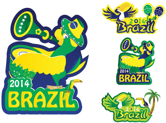 Creative14 brazil world cup logos vector Free vector in.