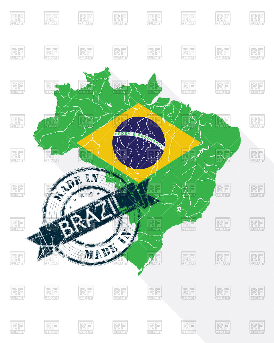 Brazilian stamp with flag.