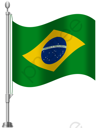 Free Brazilian Flag Buckle Material, Flag Clipart, Brazil, Flag PNG.