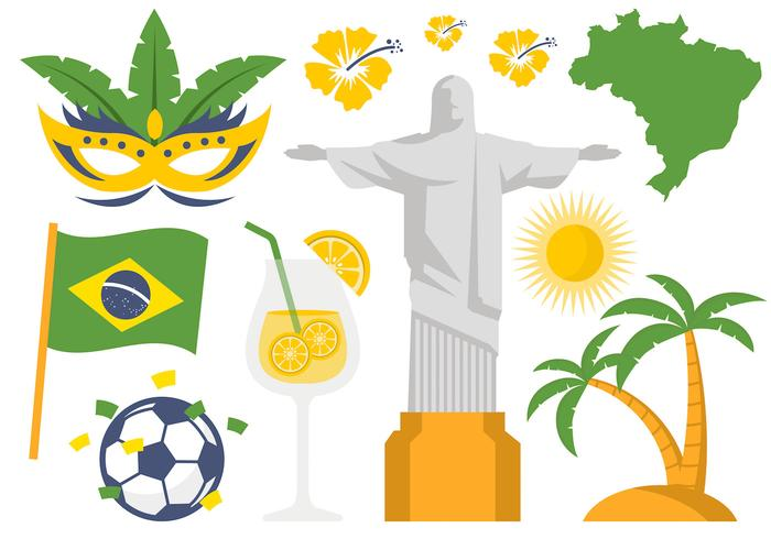 Brazil Illustration Icon and Symbol Vector.